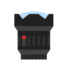 modern camera photo lens icon vector image