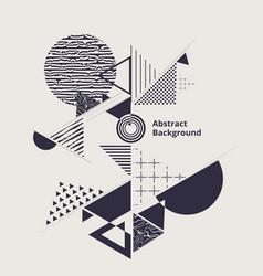modern circle stylish of geometric blue vector image