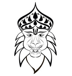 Nrisimha outline vector