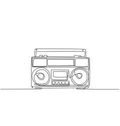 one single line drawing retro old fashioned vector image