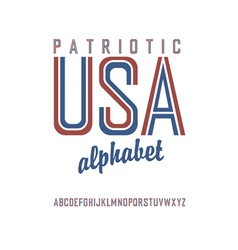 patriot alphabet vector image