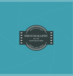 Photography and film badge or label design vector