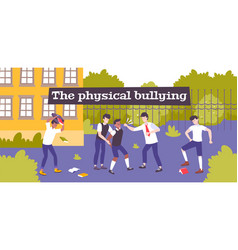 Physical violence bullying composition vector