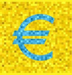 pixel euro symbol vector image