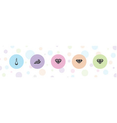 Precious icons vector
