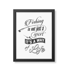 Quote typographical Background in the black frame vector image