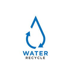 recycle water drop logo design template vector image
