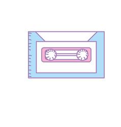 Retro cassete to listen kind music vector