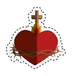 sacred Heart of Jesus vector image vector image