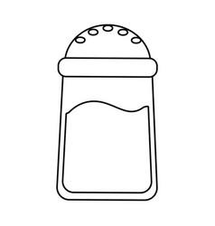 Salt container food vector