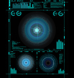 sci-fi futuristic crosshair hud user interface vector image