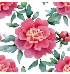 seamless peonies vector image