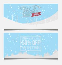 set winter sale banner vector image