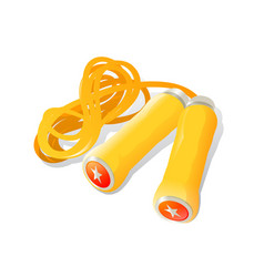 skipping rope on white background vector image