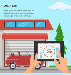 smart car flat design vector image