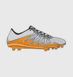 sneakers football shoes vector image