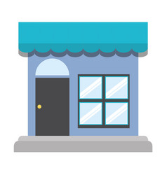 storefront facade icon image vector image