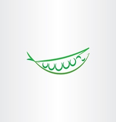 Stylized peas icon art logo symbol vector