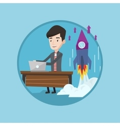 Successful business start up vector
