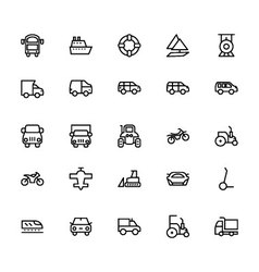Transportation Icons 3 vector image