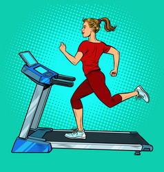 treadmill sports equipment for training fitness vector image