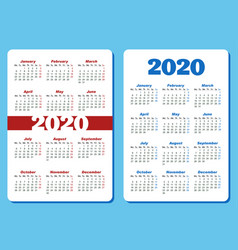 two different designs for vertical pocket calendar vector image