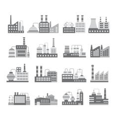 Warehouses building vector image