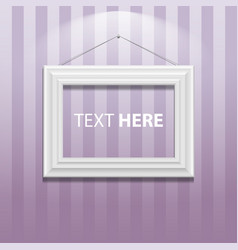 white classis frame on the wall vector image