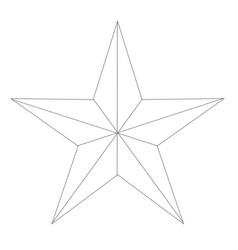 White texan star vector