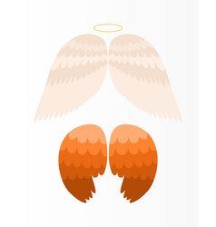 Wings angel isolated animal feather pinion bird vector