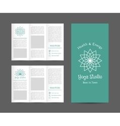 Yoga Studio Brochure Template vector