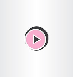 black and pink play button icon vector image