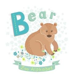 Letter B - Bear vector image