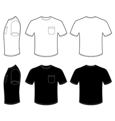 Mans t shirt with pocket vector