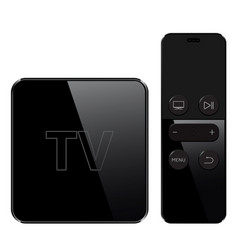 multimedia and tv box receiver and player with vector image