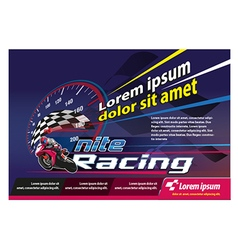 Poster Racing event vector image