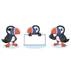 Puffin Mascot happy vector image