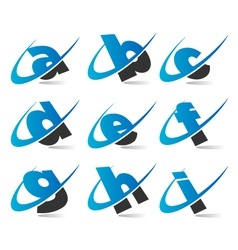Swoosh Small Letters Logo Icons Set 1 vector image vector image