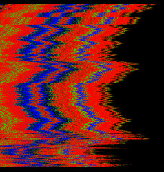 television interference glitch vector image vector image