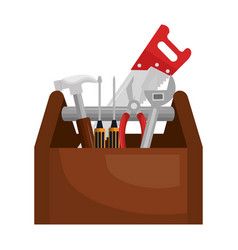 tools box construction tool isolated icon vector image