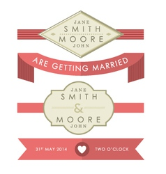 Wedding tags and banners vector