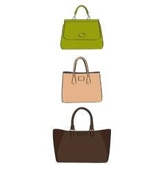 colored handbags vector image