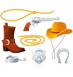 Cowboy accessories vector