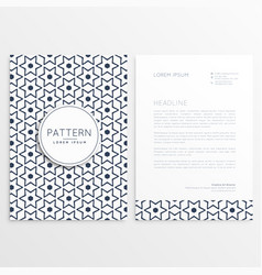 letterhead template with abstract flower pattern vector image