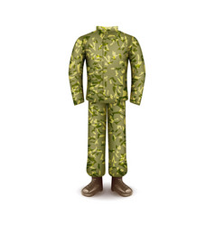 military uniform isolated on white vector image