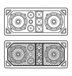 professional concert tour array speakers dark vector image