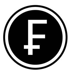swiss franc sign chf swiss franc vector image