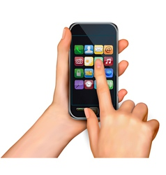 touchscreen smart phone vector image vector image