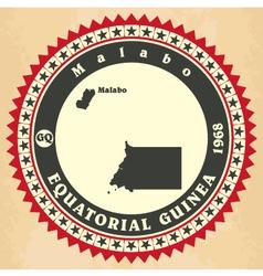 Vintage label-sticker cards of Equatorial Guinea vector image vector image