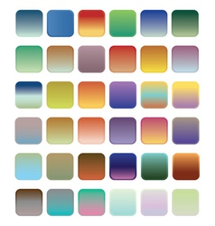 36 blank web gradient button vector image